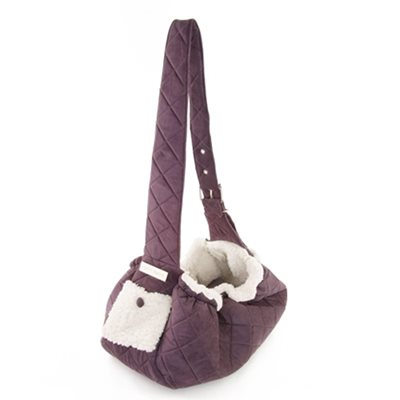 PUPPY ANGEL Quilted Pet-Sling Carrier Purple