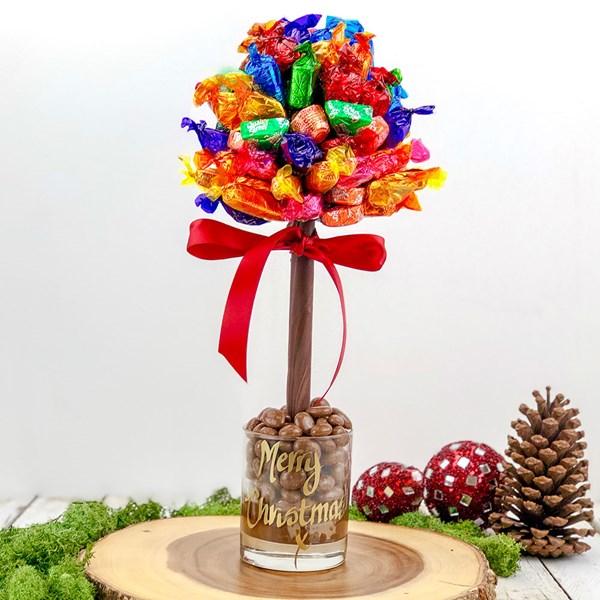 Personalised Quality Street Chocolate Sweet Tree