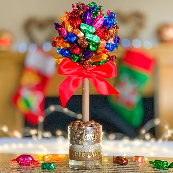 Christmas Chocolate Gift Idea with Quality Street Sweets