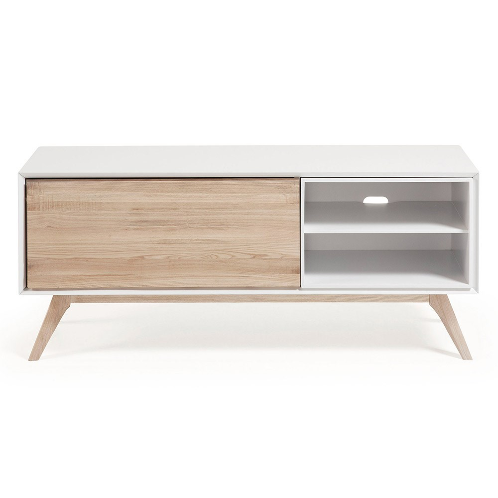Quatre Wooden Tv Unit In White And Ash Casa Lujo Cuckooland