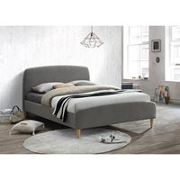 QUEBEC UPHOLSTERED BED in Grey by Birlea  Double