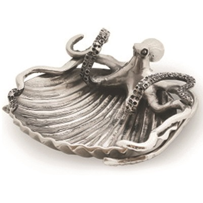 LUXURY SERVING DISH in Octopus and Sea Shell Design
