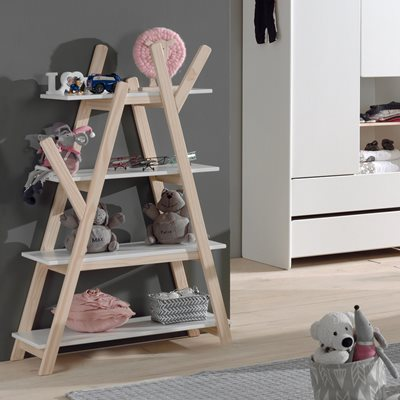 Kiddy Wooden Bookshelf in White