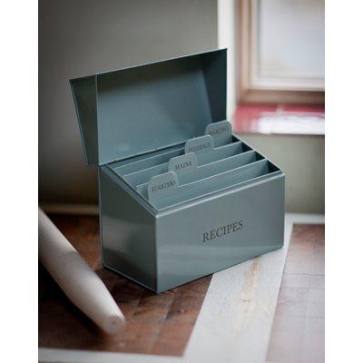 RECIPE BOX in Shutter Blue by Garden Trading