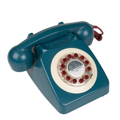 RETRO TELEPHONE 746 in Blue, Red and Cream