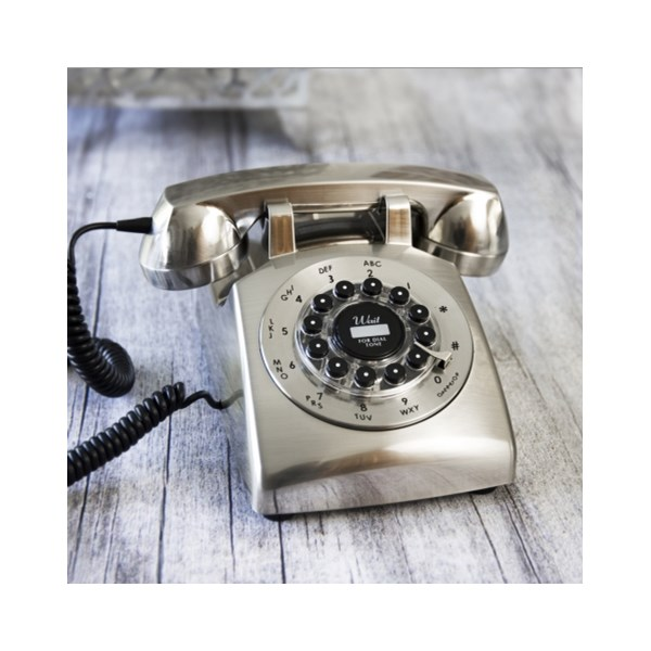 RETRO TELEPHONE Dreyfuss 500 Desk Phone in Chrome
