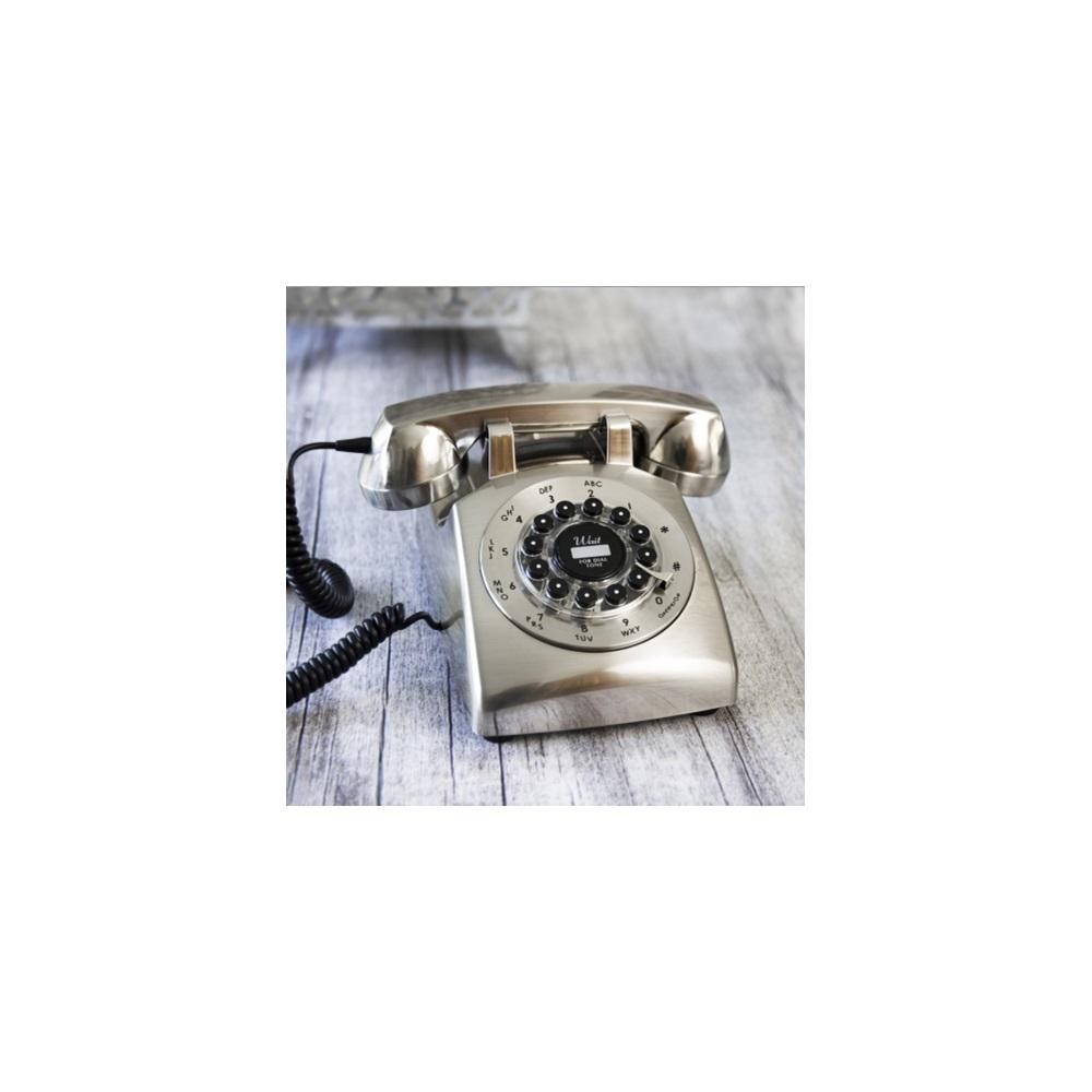 Retro Telephone Dreyfuss 500 Desk Phone In Chrome 1