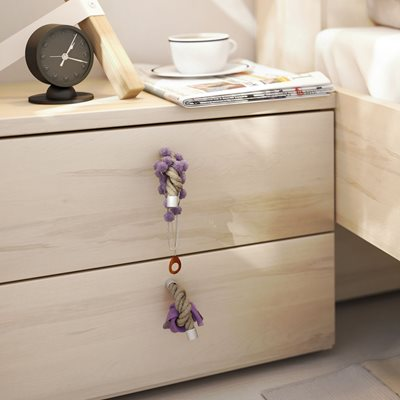 R&O BEDSIDE TABLE with Drawers in Beech Effect