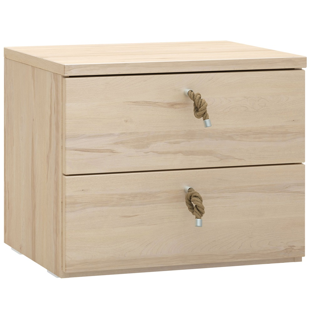 Vox RO Bedside Table With Drawers In Beech Effect