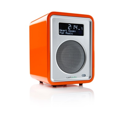 R1 DESKTOP RADIO in Orange by Ruark Audio