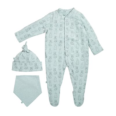 WILD COTTON ORGANIC BABY GIFT SET in Rabbit Design