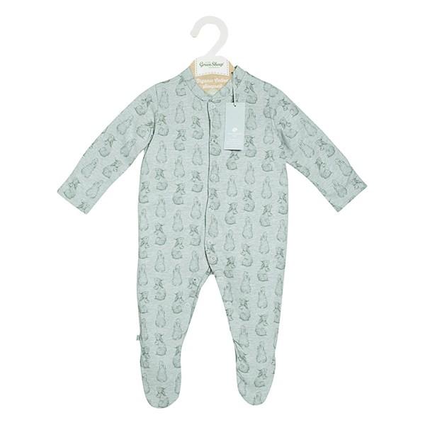Organic Soft Green Sleepsuit