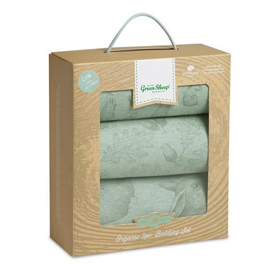 WILD COTTON ORGANIC CRIB BEDDING SET in Rabbit Design