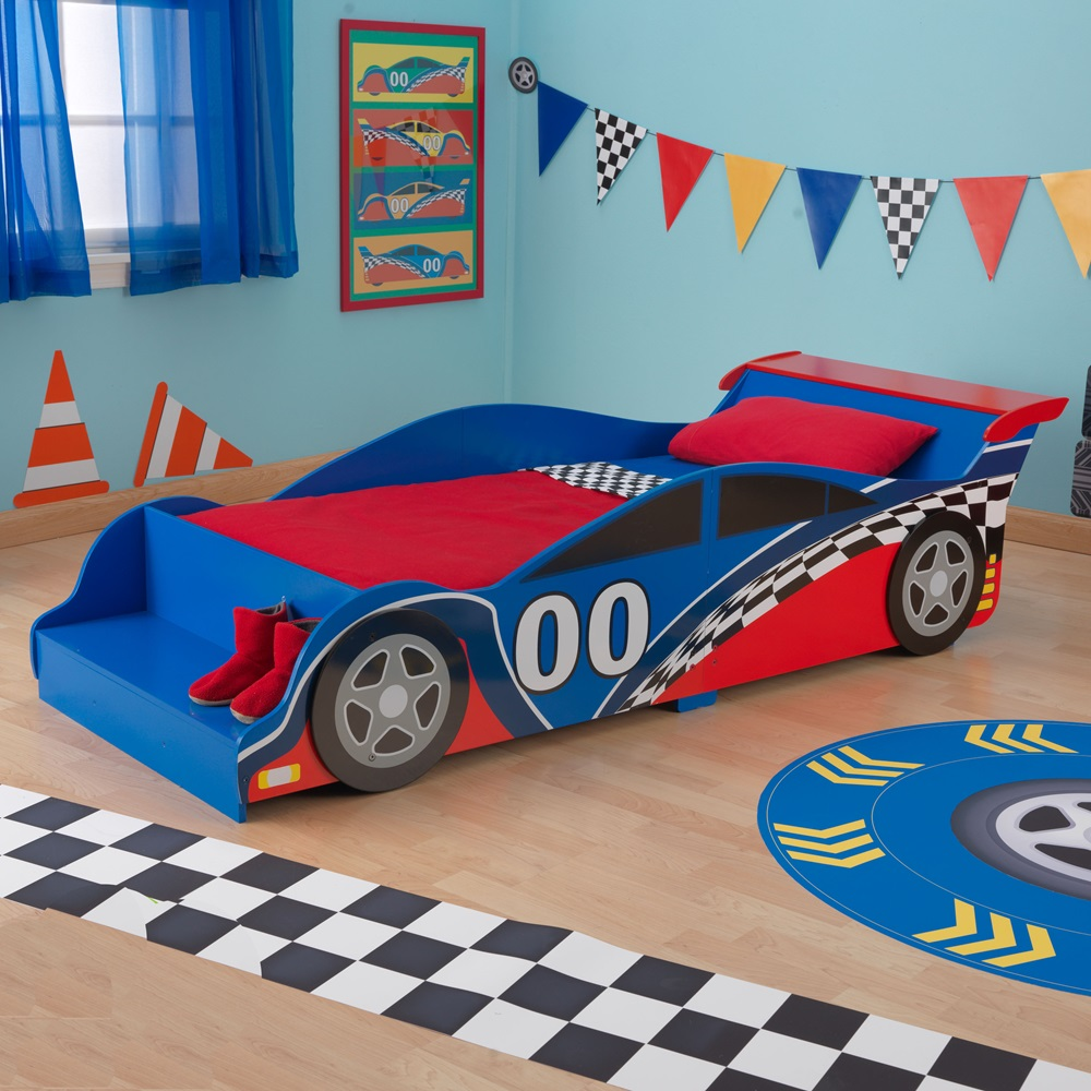 race car toddler bed kids beds cuckooland. Black Bedroom Furniture Sets. Home Design Ideas