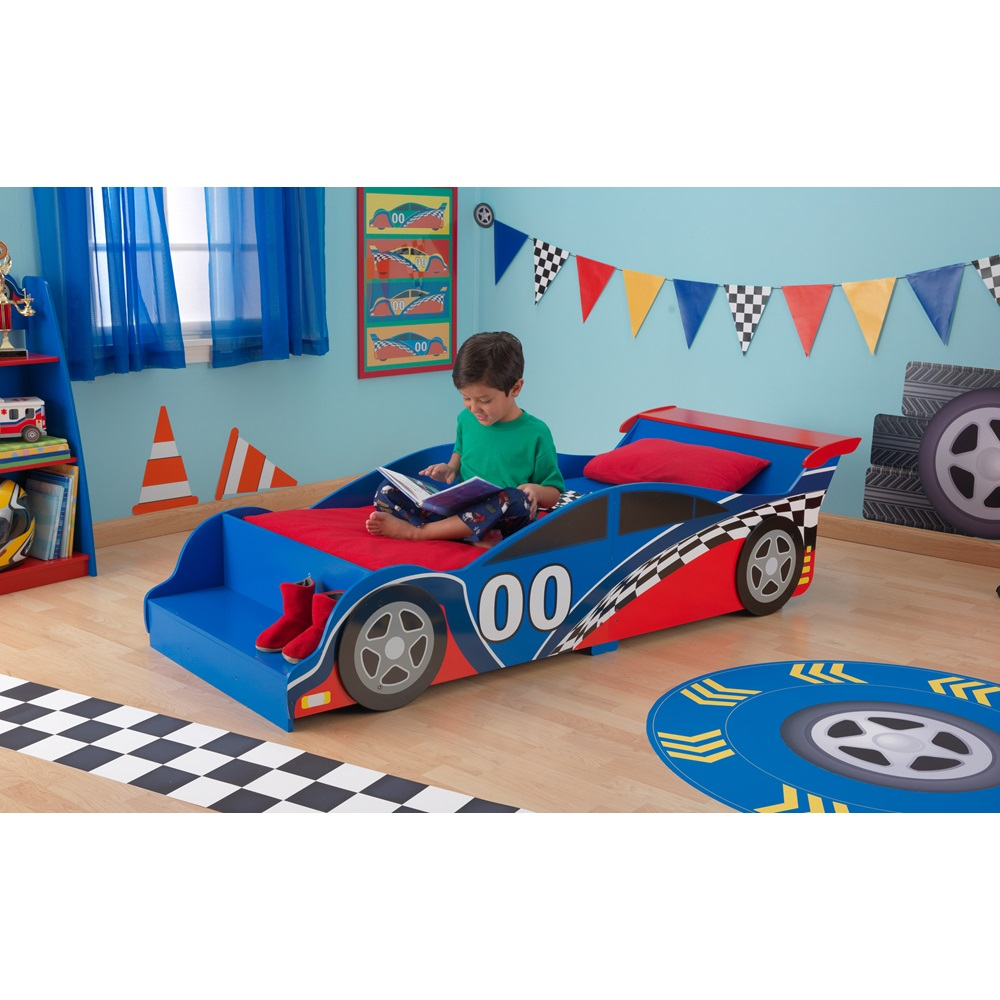 car bed for boys with front seat for sitting or shoe rack