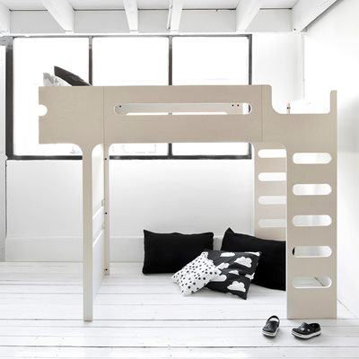 F DESIGNER KIDS LOFT BED in Whitewash Finish