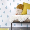 Childrens Ice Blue Raindrops Wallpaper