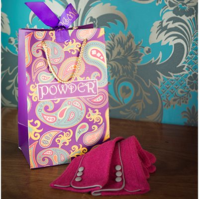 MARLENE Women's Designer Wool Gloves in Raspberry