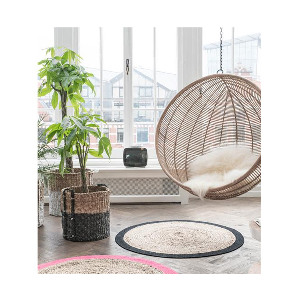 Rattan Indoor Hanging Chair In Black Hanging Chairs
