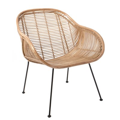 RATTAN ARM CHAIR in Natural Finish