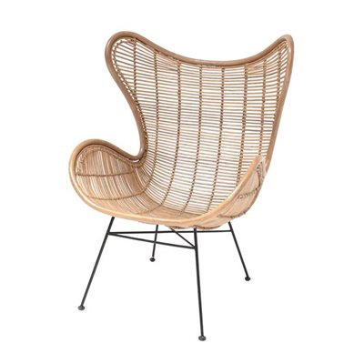RATTAN EGG CHAIR in Natural