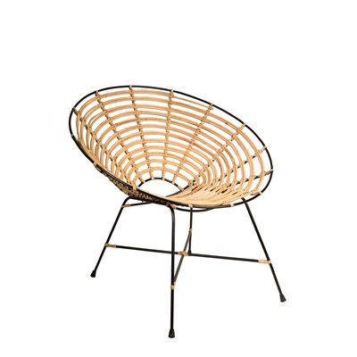 KUBU RATTAN ROUND LOUNGE CHAIR