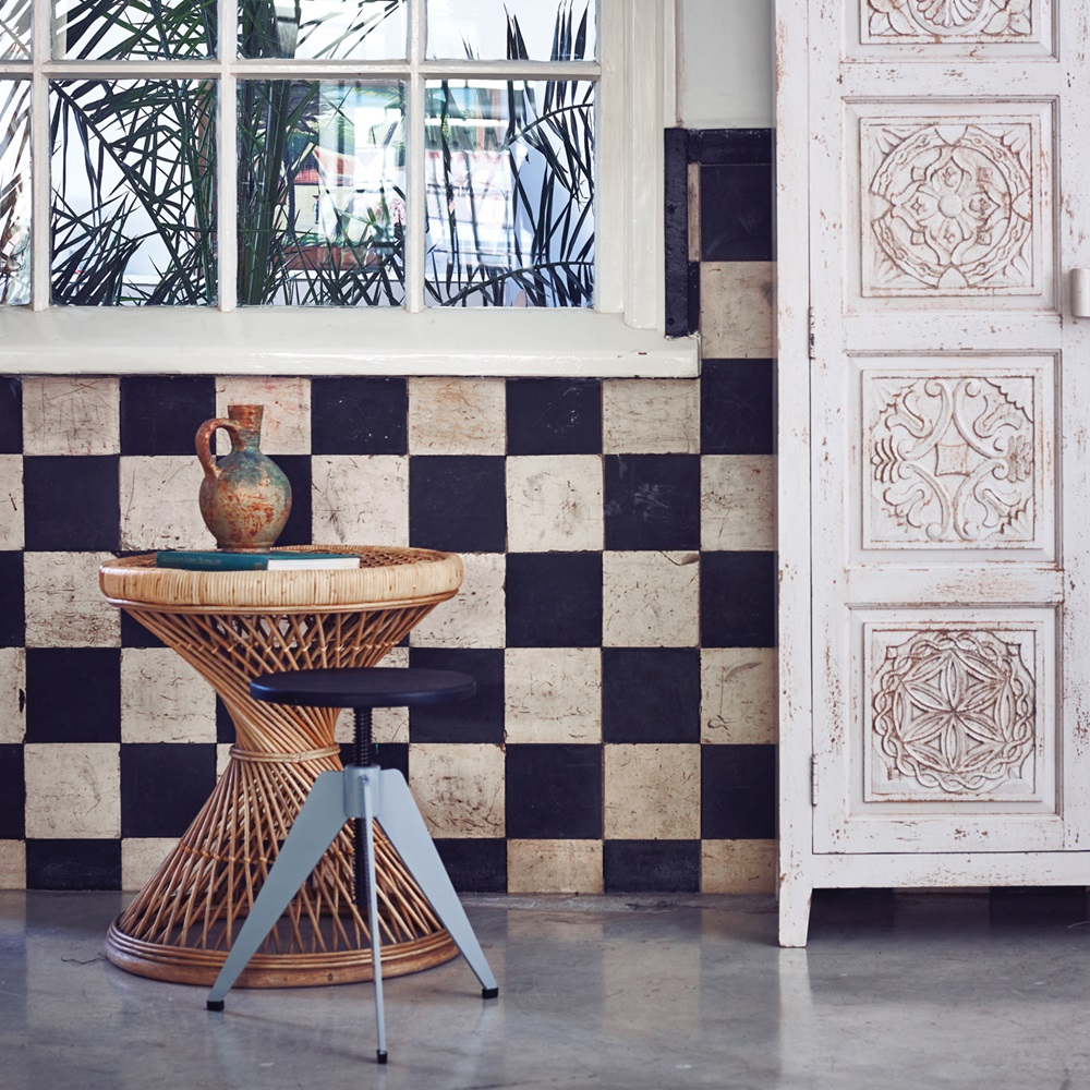 Rattan side table in natural finish hk living cuckooland for Rattan side tables living room