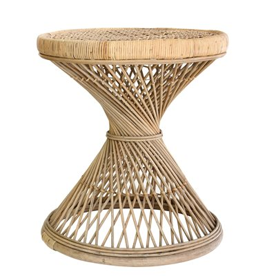 RATTAN SIDE TABLE in Natural Finish