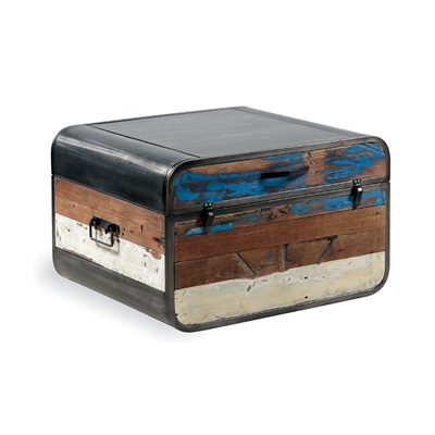 RETRO STORAGE TRUNK / COFFEE TABLE in Recycled Boatwood