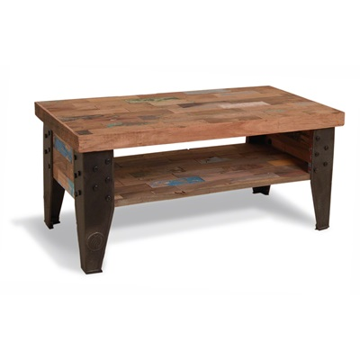RECLAIMED COFFEE TABLE with Shelf