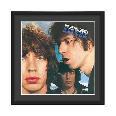 THE ROLLING STONES FRAMED ALBUM WALL ART in Black and Blue Print