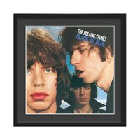 THE ROLLING STONES FRAMED ALBUM WALL ART in Black and Blue Print  Large