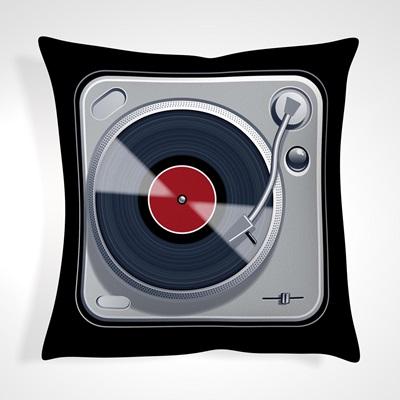 CUSHION in Retro Record Design