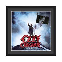 OZZY OSBOURNE FRAMED ALBUM WALL ART in Scream Print  Large