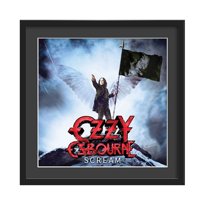OZZY OSBOURNE FRAMED ALBUM WALL ART in Scream Print