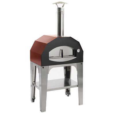 CAPRICCIOSA WOOD FIRED PIZZA OVEN in Red