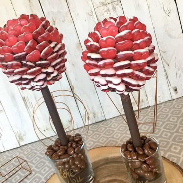 Red Haribo Heart Sweet Tree