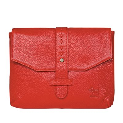 DESIGNER IPAD CASE in Ruby Red Leather Envelope Style