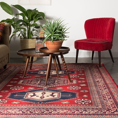 DUTCHBONE JAR AZTEC RUG in Old Red