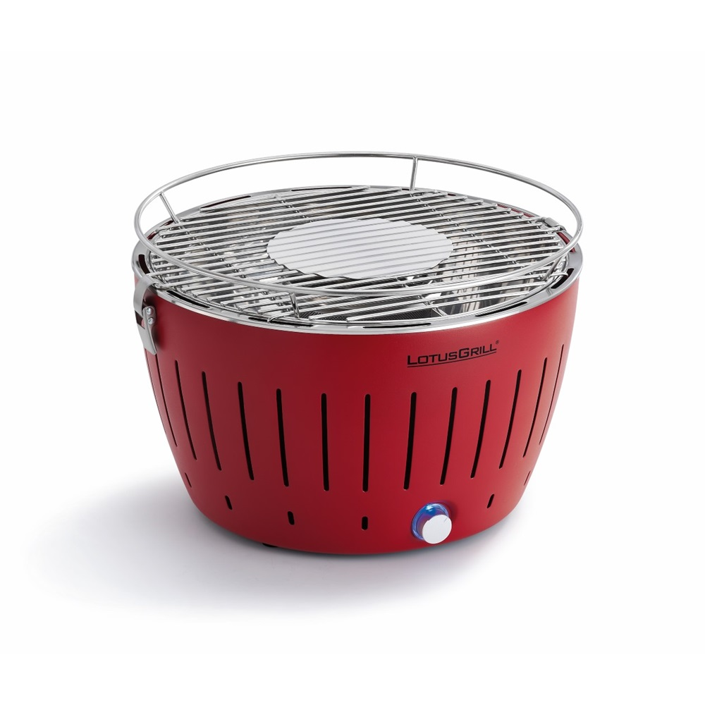 lotus grill bbq in red with free lighter gel charcoal lotus