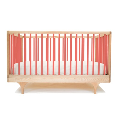 KALON STUDIOS CARAVAN COT & TODDLER BED in Red