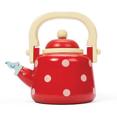 LE TOY VAN RED DOTTY KETTLE with Detachable Lid
