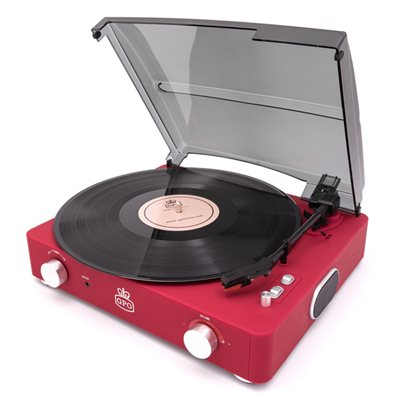 GPO Stylo II Record Player in Red