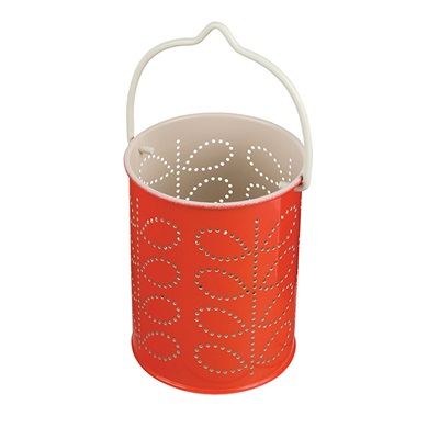 ORLA KIELY TEA LIGHT LANTERN in Red