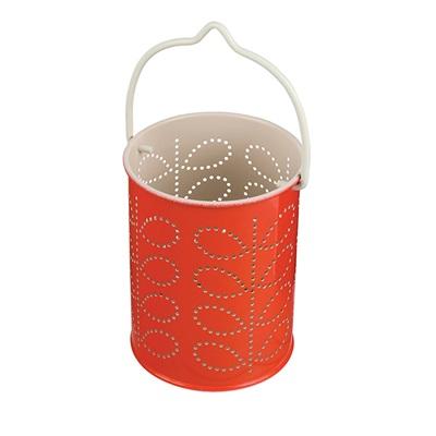 ORLA KIELY TEA LIGHT LANTERN in Red