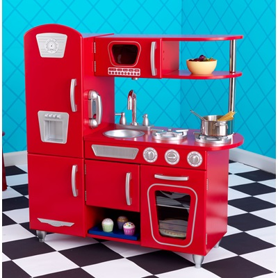KIDS VINTAGE KITCHEN in Red