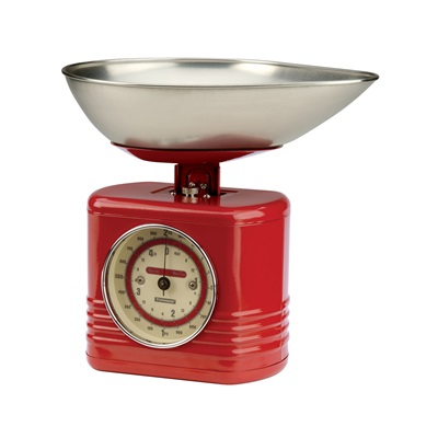 TYPHOON VINTAGE KITCHEN SCALES in Red