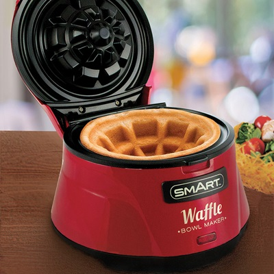 Smart Waffle Bowl in Red