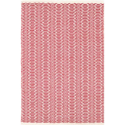 INDOOR FAIR ISLE RUG in Red And Ivory