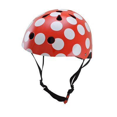 RED DOTTY HELMET by Kiddimoto